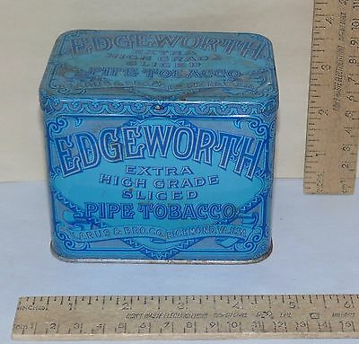 EDGEWORTH PIPE TOBACCO - EXTRA HIGH GRADE SLICED - blue TIN - Empty
