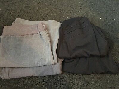 Lot Of 4 WOMENS Maternity Career Dress Pants Skirts Motherhood Oh Baby Sz Large