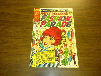 PATSY WALKER'S FASHION PARADE #1 Marvel Comics 1966 QUEEN SIZE ANNUAL