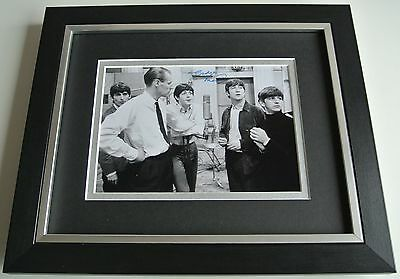 George Martin SIGNED 10X8 FRAMED Photo Mount Autograph Display Beatles Music COA