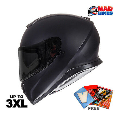 MT Thunder 3 Matt Black Full Face Motorcycle Motorbike Helmet, DVS, Crash Lid