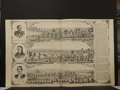 Indiana, Tippecanoe County Map 1878, Res of Cunninghams Engravings, 2 Page Z5#81