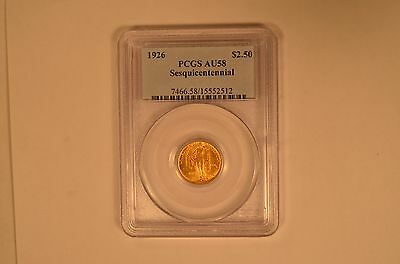Choice 1926 Sesquicentennial $2 1/2 gold commemorative graded AU58 by PCGS