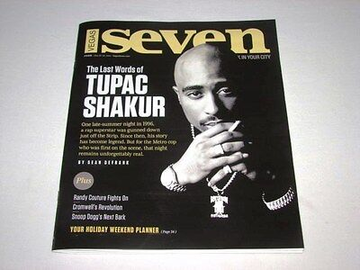 Vegas Seven Magazine The Last Words of Tupac Shakur 2Pac May 2014 Issue NEW