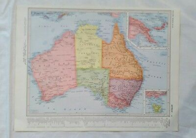 Australia or Eastern Australia & New Zealand 1955 Map