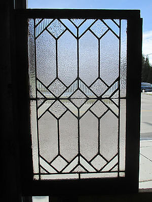 Antique American Stained Glass Window 23 X 34 Architectural Salvage