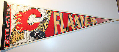"""Calgary Flames 1994 Vintage Hockey NHL Pennant 30"""" Trench Manufacturing"""
