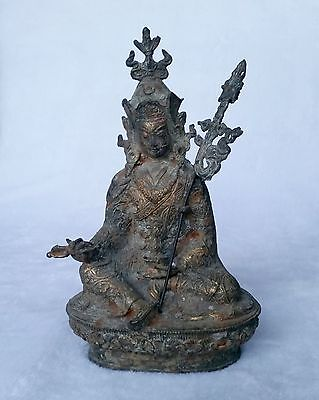 Old copper Bronze Statue Collectables! Dynasty China Unique dragon Buddha Lucky