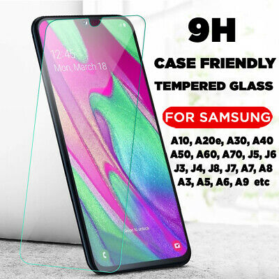 100% Genuine Tempered Glass Screen Protector Protection For Samsung Galaxy Phone