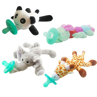 Baby Infant Pacifier Teat Soothie Silicone Panda Soft Feeding Dummies Bite Tool
