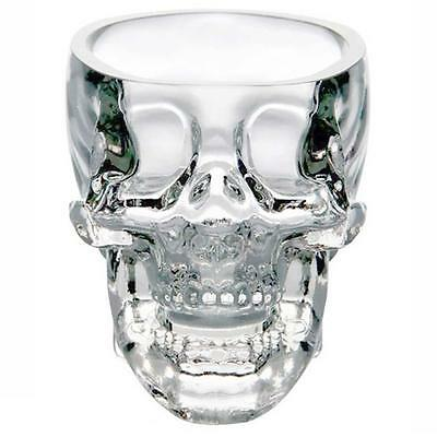 5x New Crystal Skull Head Vodka Whiskey Shot Glass Cup Drinking Ware Home Bar