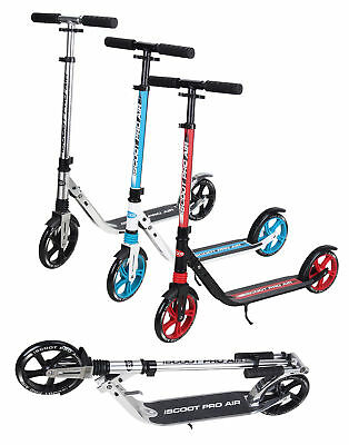 Adult iScoot Air City Suspension Push Kick Scooter Folding Large 200mm Wheels