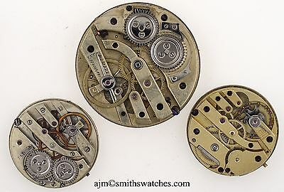 Breguet Fob Watch Movement Plus Two Old Movements Superb Enamel Dial  Spares 8B