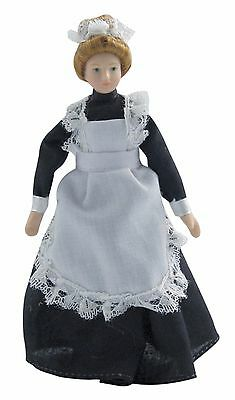 1/12Th  Dolls House  Doll Victorian Maid In Black Dress