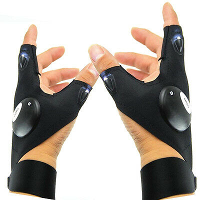 LED Light Gloves Finger Lighting Auto Repair Outdoors Flashing Artifact New Ride
