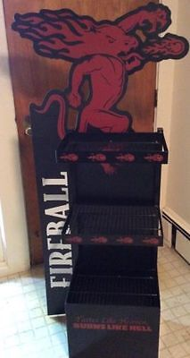 (L@@k) Fireball Cinnamon Whiskey Figure Sign Beer Game Room Man Cave Bar Rare