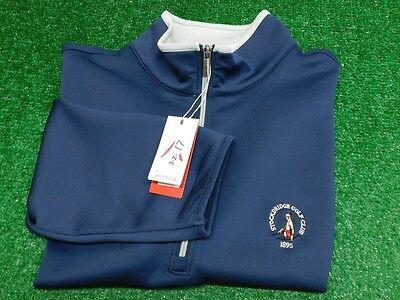 Antiqua Leader Navy Silver 1/2 Zip Golf Pullover Jacket XX-Large CC Logo New NWT