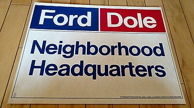 Original 1976 GOP Gerald Ford & Bob Dole for President campaign committee poster