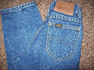 """Vintage LEE RIDERS Stonewashed Jeans Size 14 Slim (22X27.5"""") Made In U.S.A. Boys"""