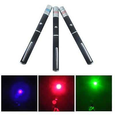 3PCS High Power 5mw Red + Green + Blue Purple Laser Pointer Pen Beam Light Lazer