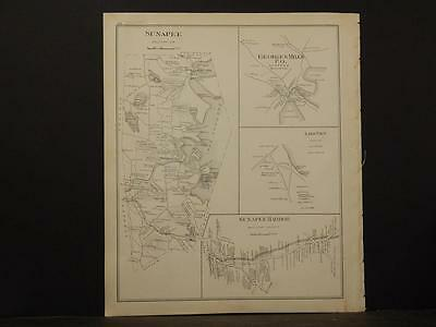 New Hampshire, Sullivan County Map, Claremont,  1892, Revers.  Dbl.Page L4#95