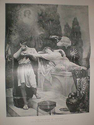 The Sacrifice of Iphigenia from Reginald Arthur 1895 large old print