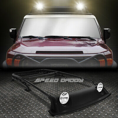 Offroad Oe Style Roof Rack+Air Dam+Fog Light+Lamp Cover Kit For 07-14 Fj Cruiser