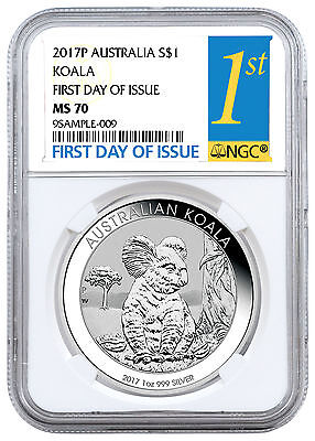 2017-P Australia $1 1 oz. Silver Koala NGC MS70 First Day of Issue SKU45146