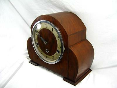 Antique Art Deco Mantel Clock Westminster Chimes Great Working Order & Condition