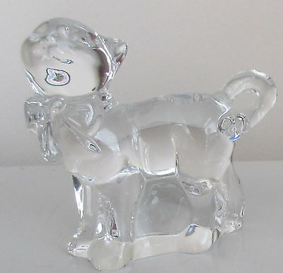 Lenox Kitten Cat with Bow Figurine Fine Crystal Made in Germany