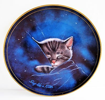 Chessie Cat B&O Railroad Advertising 50th Plate 1983 LE Sleep Like a Kitten