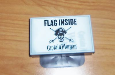 Captain Morgan White Rum Pirate Mini Flag 1' x 2' Size *NEW*