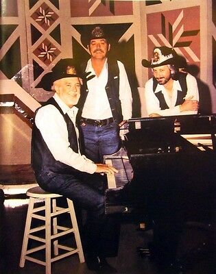 VIC WILLIS TRIO Give 40 Acres country brothers '80s color photo Grand Ole Opry