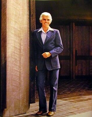 ROY DRUSKY country clipping 1980s color photo Grand Ole Opry denim suit 8 x 10
