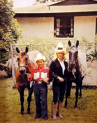 JIMMY DICKENS country clipping 1980s color photo Grand Ole Opry w/ horse 8 x 10