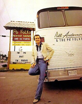 BILL ANDERSON at Po Folks country clipping 1980s color photo Grand Ole Opry