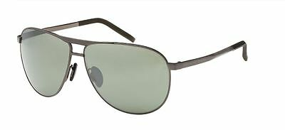9b34ed3c8c35 NEW Porsche Design P 8642 C Gray Light Silver Mirror Aviator Sunglasses