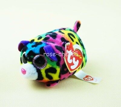 "4"" Ty Teeny Tys Jelly Multicolor Leopard Mini Plush Stuffed Animals Girl Toys"