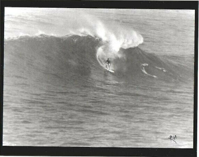 Eddie Aikau At Waimea Bay, 1967 Oahu Photograph On 8X10 Inch Mat