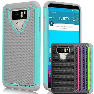 For LG G6 H870 2017 Case Hybrid Silicone Armor Impact Defender Hard Phone Cover