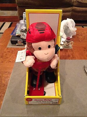 Original Talking Curious George On Scooter Large Plush Stuffed Toy