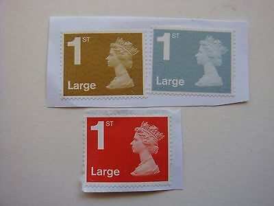 10/200 GB/British 1st Class LARGE Letter UNFRANKED Stamps ON Paper Red/Gold/Blue