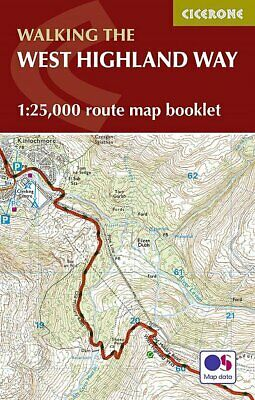 Walking The: West Highland Way 1:25,000 OS route map booklet