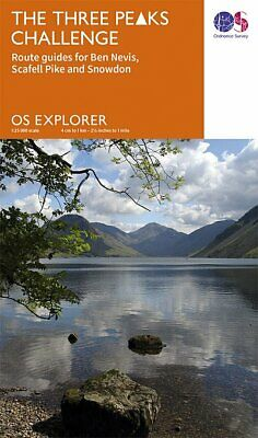 Three Peaks Challenge OS Map (Scafell Cover)