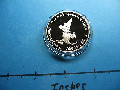 Mickey Mouse Sorcerer's Apprentice Disney World 1994 Convention 999 Silver Coin