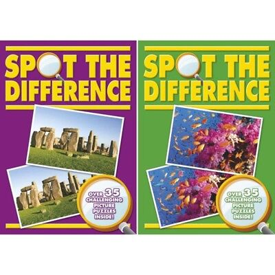 Challenging Spot The Difference Activity Books Perfect Travel Book Fun Games