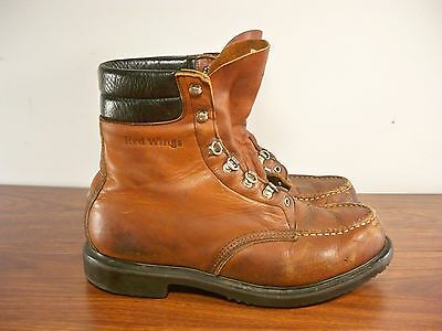 Vintage Red Wing Men's Work Hunting Motorcycle Leather Soft Toe Boots Size 10