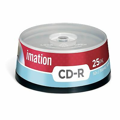 Imation 73000023074 -  CD-R 52X 25PK SPINDLE 700MB 15-LANG (1Year warranty)