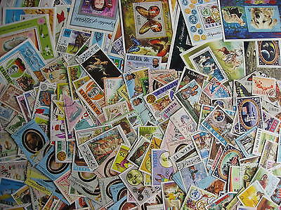 LIBERIA collection 240 different with topicals and souvenir sheets! Nice group!
