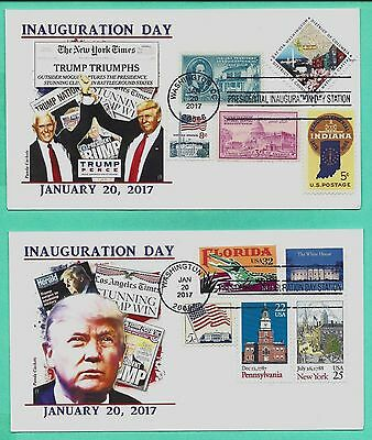 Trump-Pence 2017 Inauguration, Special Combo Cover Set Of 2, Panda Cachet